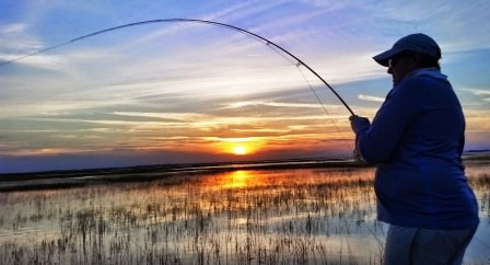 Chris Hale fighting a tailing Redfish - Copy.jpg